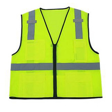 High-Visibility Reflective Safety Vest with Pockets