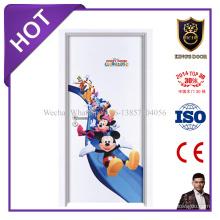 Les portes de peau de moule de mélamine en bois avec des prix bon marché pour des chambres d'enfant