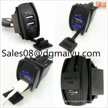 Switch Style DC 12V 3.1A Dual USB Charger