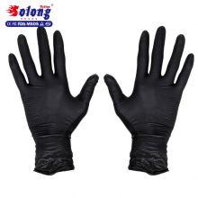 Solong tätowierung freie beidhändige latex prüfung zugelassen schwarze tattoo nitril handschuhe
