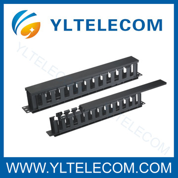 19 Inch Cable Manager with Metal Cover