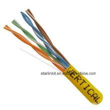 China Made preço de fábrica UTP Cat5e cabo LAN 1000FT amarelo