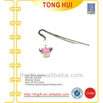 Birthday hang tag metal bookmarks /cartoon cute metal bookmarks for books