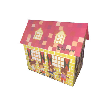 Cardboard house shape display box for packaging toys