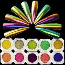 Pigmento do camaleão / pó do chromashift do efeito do espelho para o verniz para as unhas