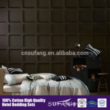 80s 100% cotton satin fabric Bordado Conjunto de cama de padrão de flor