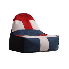 Sofá de saco de feijão preguiçoso portátil com tecido multicolorido