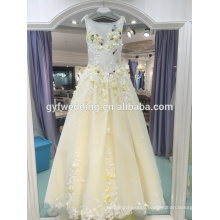 2017 spring and summer new bride color lace flowers small trailing wedding dress banquet stage wedding wedding LJ-20024