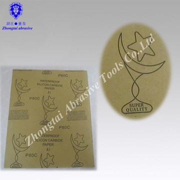 Überzogenes wasserdichtes Silikonkarbid-Schleifmittel-Sandpapier