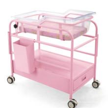 Rosa Baby Trolley mit Handschuhfach und Schublade