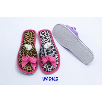Women's Leopard Binding Thongs Slippers Open Toe