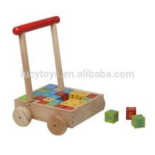 Alphabet Cube Trolly Toy pour enfants jouant au choix de la qualité