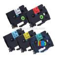 etiqueta do cabo Preto na impressora de fita vermelha irmão rótulo cassete de fita de impressora