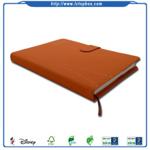Custom School Work Paper Afdrukken PU Leather Bound Notebook