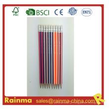 Lápis de madeira de barril de tira de triângulo com cor de néon