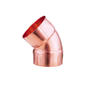 45 degree elbow copper plumbing fitting