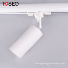 Aluminum track light housing cut out 60 with 3 phase adaptor global led track lighting