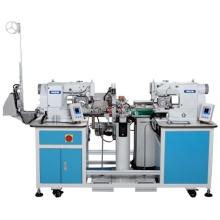 Automatyczna elastyczna łącząca maszyna do szycia z podwójnymi głowicami