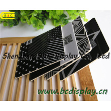 Hochwertige quadratische Papier Untersetzer Wit 4c Druck auf beiden Seiten, Bierdeckel (B & C-G106)