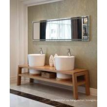 Gabinete de baño moderno reflejado gabinete principal de madera uno (JN-8814199)