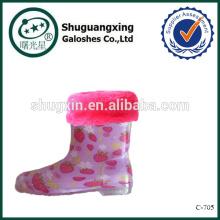 Regen Schuhe Gummischutz für Kinder Regen Stiefel Fabrik Winter/C-705