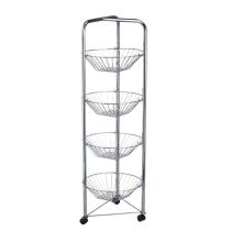 Multi-layer vegetable net storage cart with wheels