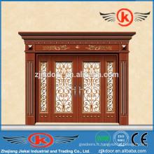 JK-C9040 typique villa de qualité supérieure sculpture porte d'art en cuivre