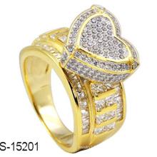 18k позолоченный серебряное кольцо ювелирных изделий с бриллиантом