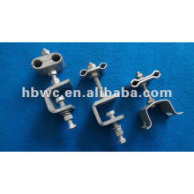 down lead clamp for pole, power line hardware