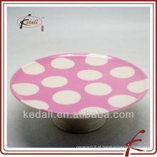 Suporte de bolo de cerâmica