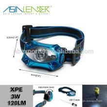 Produits Asia Leader BT-4889 XPE 3W LED USB tête de chasse