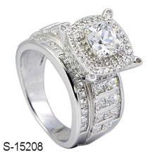 Novo Modelo 925 Sterling Silver Diamond Ring Jewelry