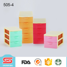 wholesale colorful top quality mini plastic desktop organiser storage with drawer