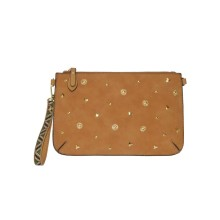 Junge Dame Clutch Bag mit Shinny Metal Studs