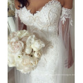 LL058 On Sale Romantic Long Wedding Dress robe de mariee Boat Neck Full Sleeves See Through Back Applique Ball Gown Court Train