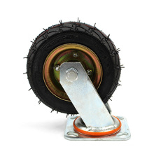 6 inch heavy duty flat plate inflatable  swivel and galvanized casters wheel