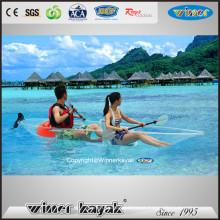 Fabricación profesional Sentarse en la parte superior Viaje transparente Kayak transparente