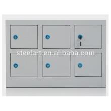 Cabinet de stockage de téléphone cellulaire d'utilisation d'école avec la puissance de charge