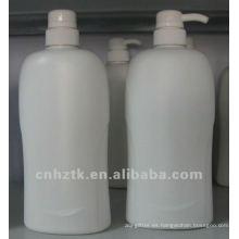 botella de loción con bomba / botellas de PE para champú, crema de baño, embalaje