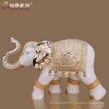 Vente en gros de porcelaine de qualité brillante décoration de maison grandes statues d'éléphants
