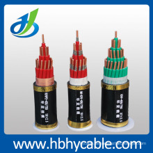 XLPE / PVC aisló el cable de transmisión blindado blindado del control del conductor de cobre de la envoltura de PVC / PE