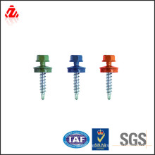 Color head self drilling roofing screw with EPDM washer