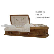 oak casket made in china