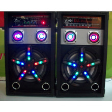 Professional Stage Loudspeaker Speaker with Flash Light