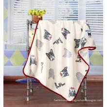 3D Embossed Cartoon Dog Flannel Baby Blanket / Baby Throw