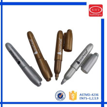High Quality Promotional Mini Metallic Marker Pen with Ring Hole