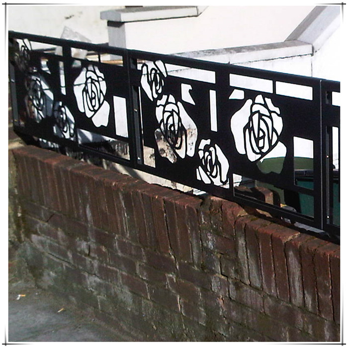 laser cut metal balcony railings