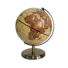 Антикварный мини-настольный компьютер с картой мира и глобусом