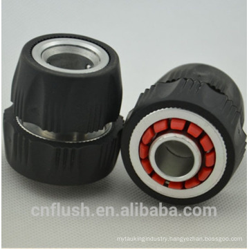 Garden hose adjustable aluminium hose connector with coating