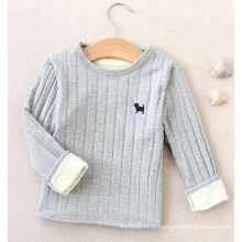 babys Assentamento camisa com veludo / tops para crianças / camisola T-shirt